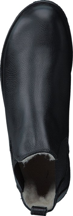Angulus Chelsea Boot With Wool Lining Black/black Scarpe Online