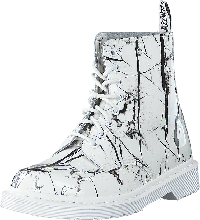 48011b4be6a Dr Martens - Pascal Mrbl White Patent Marble
