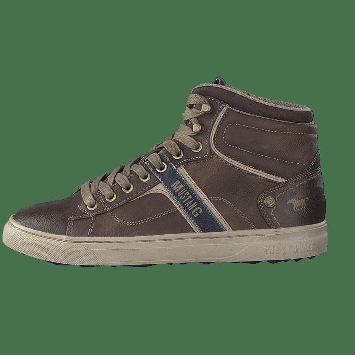 Online High Sko 4108502 Kjøp Sportsko Og Sneakers Men's Mustang Top Sneaker Brown Brune tztZq