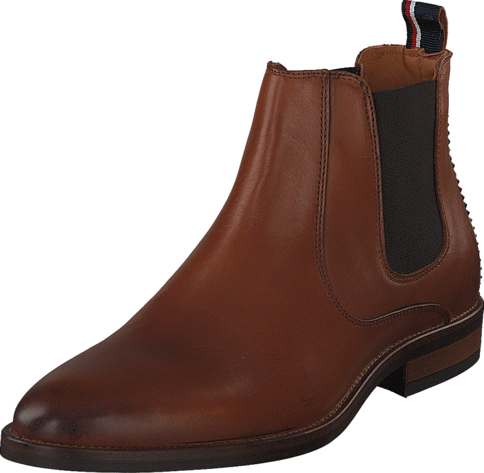 Leather Chelsea Boots Brandy Brown Tommy Hilfiger Men