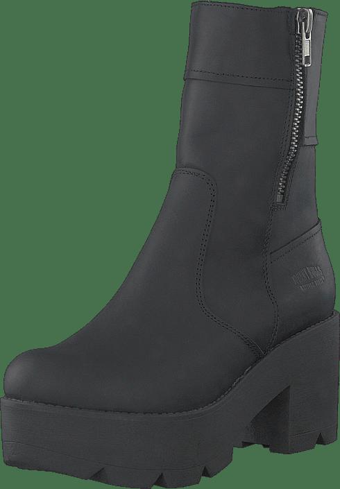 90d9048f6b26 Køb Johnny Bulls 5066 Mid Platform Boot Black Old Silver grå Sko ...