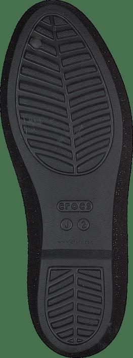 Crocs Eve Sparkle Flat K Black