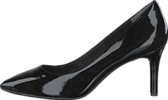 Total Motion  75Mm Pointy Pump Black Patent