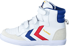 Hummel stadil JR high White/Blue/Red/Gum
