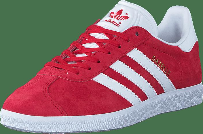 Köp adidas Originals Gazelle Scarlet White Gold Met röda Skor Online ... 03bdbc1a28bad