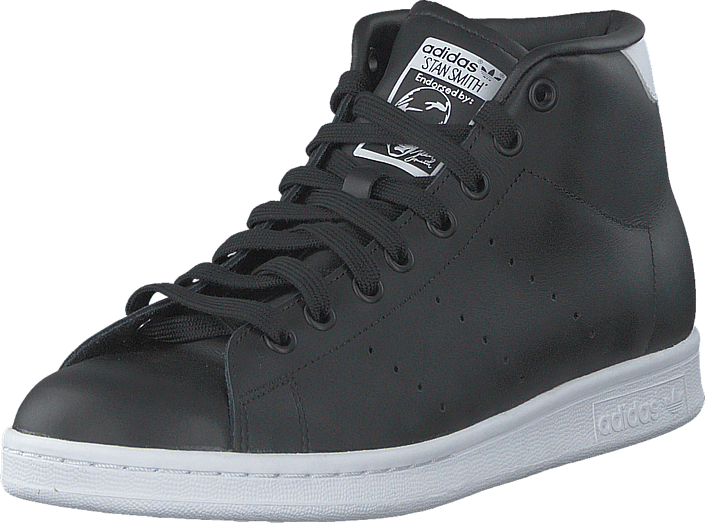adidas Originals - Stan Smith Mid Core Black/Ftwr White
