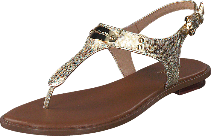 a152eb7e376 Buy MICHAEL Michael Kors MK Plate Thong 740 Pale Gold brown Shoes ...