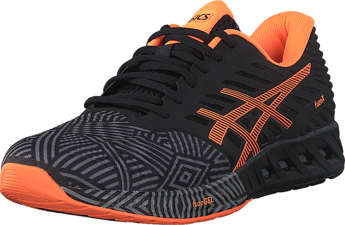 c302afab7136 Buy Asics Fuzex Aluminum   Hot Orange   Black black Shoes Online ...