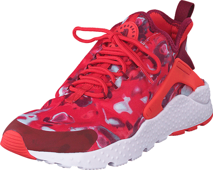 Nike W Air Huarache Run Ultra Print Lt Crimson Noble röd Pearl Pin rosa Skor Online