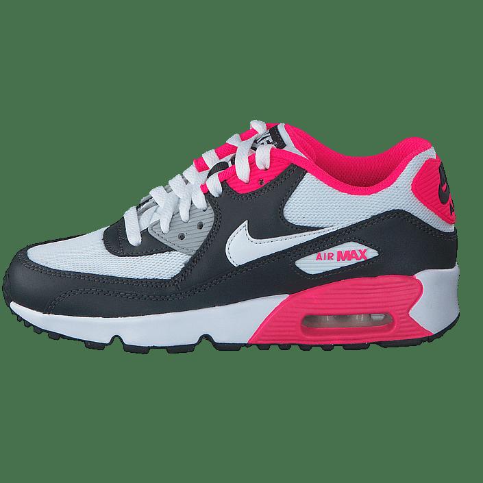 Nike Air Max 90 Mesh (GS) Obsidian Pure Platinum Hyper Pink White | Footshop