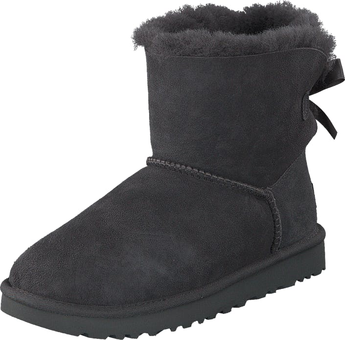 UGG Mini Bailey Bow II Grey, Skor, Kängor & Boots, Fårskinnsstövlar, Brun, Lila, Dam, 38