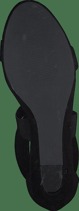 Elastic Kjøp Heels Amj17 Bianco Suede Sorte 10 Black Sko Sandal Online qPqEUw1