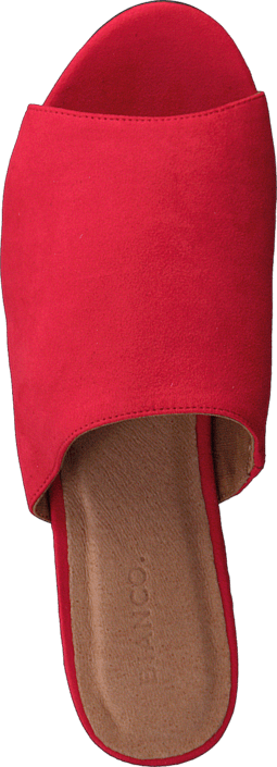 Försäljning Damskor Köp Bianco Suede Slip In AMJ17 45 Red röda Skor Online