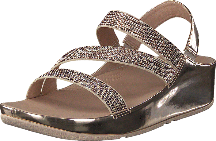14167f1f944842 Buy Fitflop Crystal Z-strap Sandal Rose Gold brown Shoes Online ...