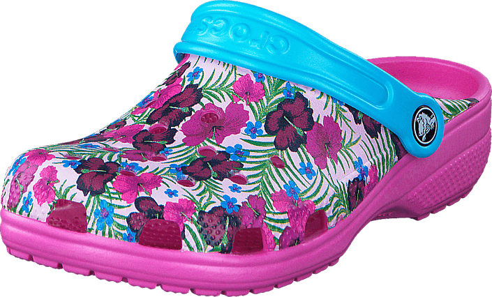4cf5ed6981c8da Buy Crocs Classic Graphic Clog K Multi-Color Pink turquoise Shoes ...