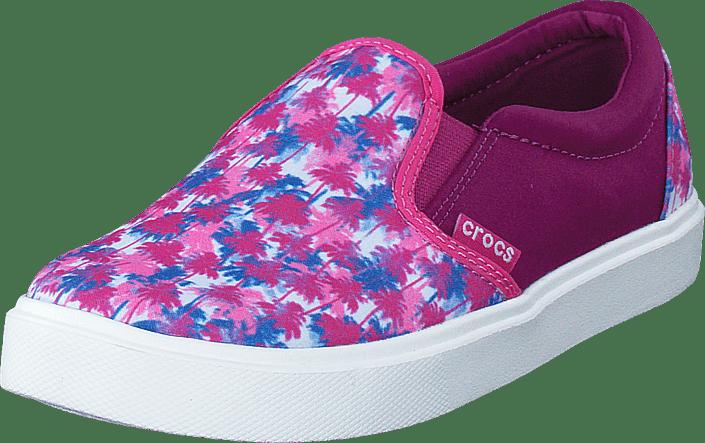 CitiLane Novelty Slip-on K Pink Palm
