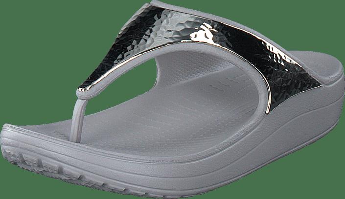 c211f3516 Buy Crocs Crocs Sloane Embellished Flip Platinum Platinum grey Shoes ...