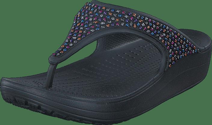 2af0b14b8e Buy Crocs Crocs Sloane Embellished Flip Black Multi black Shoes ...