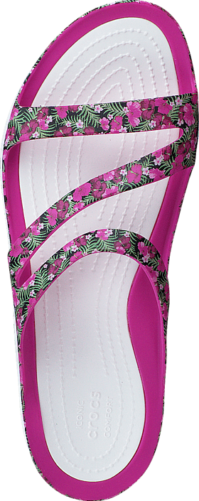 064e28f3aff7 Buy Crocs Swiftwater Graphic Sandal W Pink Floral blue Shoes Online ...