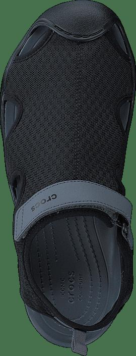 Online Crocs Sko Sandals Swiftwater Grå Black W Mesh Sandal Kjøp SvgBWWc