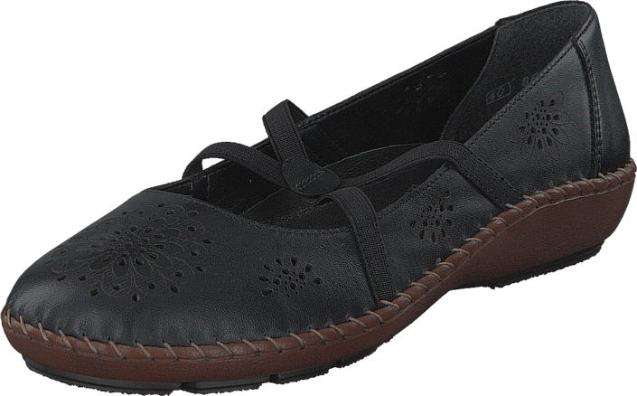Flats 44887 Rieker Sorte Sko Black Kjøp 00 Online 50xn4