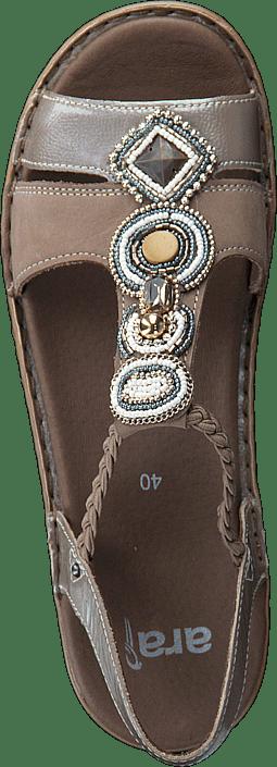 Brune Hawaii Kjøp Taupe Ara Sandals Cotton Sko Online gxxRqZw