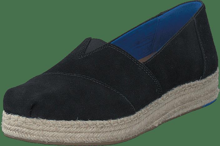 Platform Alpergata Black Suede