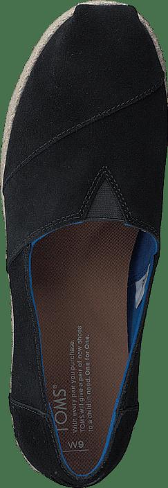Kjøp Toms Platform Alpergata Black Suede Sko Online
