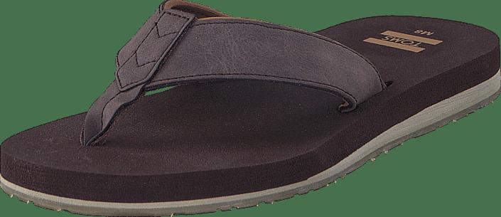 koop toms carlio flip-flop chocolate brown paarse schoenen online