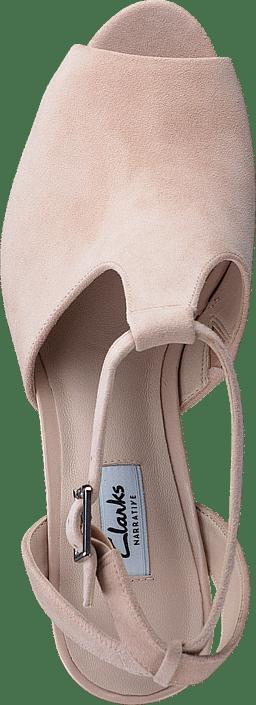 Clarks Kendra Charm Nude Suede Schuhe Kaufen Online