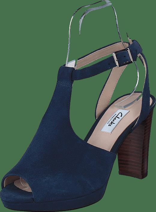 Charm uk Shoes co Brown Suede Kendra Buy Clarks Online Navy Footway qnUPn7RE