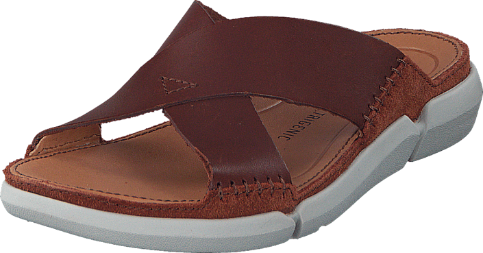Clarks - Trisand Cross Dark Tan Leather