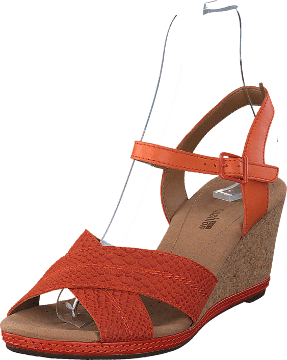 9e293ea014d Buy Clarks Helio Latitude Orange Leather Red Shoes Online