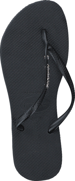 Havaianas - Slim Metal Logo And Crystal Black