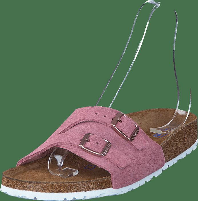 b21c2621895 Buy Birkenstock Vaduz Slim Suede Rose pink Shoes Online
