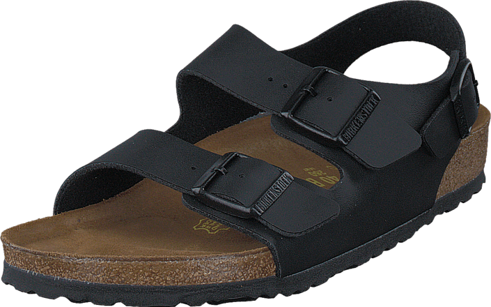 5bbb3d9dd80 Buy Birkenstock Milano Regular Birko-Flor Black black Shoes Online ...