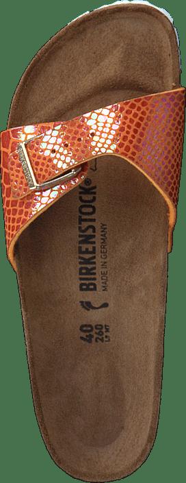 Birkenstock - Madrid Slim Birko-flor Shiny Snake Orange