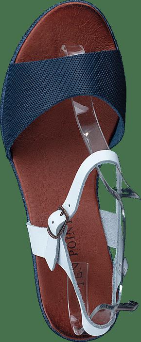 Femme Chaussures Acheter Ten Points Kira 743061 Blue/Blanc Chaussures Online