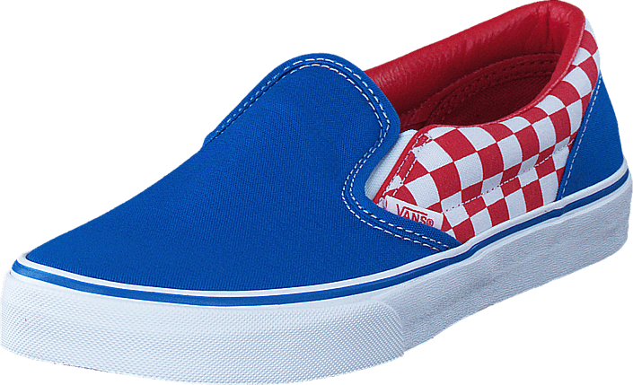 UY Classic Slip-On racing red/imperial blue