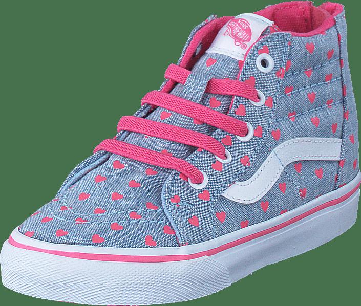 Buy Vans Td Sk8 Hi Zip Blue True White Blue Shoes Online Footway Co Uk