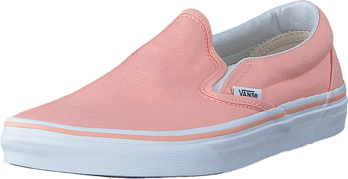 25a407a6f5 Buy Vans UA Classic Slip-On Tropical peach true white pink Shoes ...