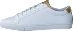 Chop Womens Leather White/Gold