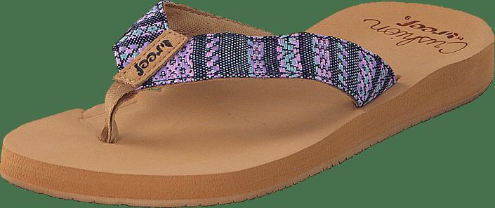 b7aefac9d2ba Buy Reef Cushion Threads Tx Black Multi brown Shoes Online