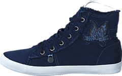 Butterfly High Sneakers Dark Blue