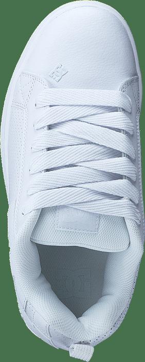 Kjøp Dc Shoes Court Graffik White/white/gum Sko Online