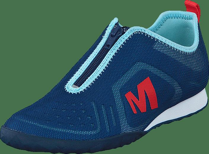 Online Mykonos Sneakers Kjøp Merrell Blå Civet Sko Zip Blue CwFq6