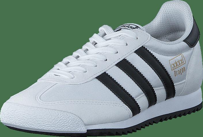 black and white adidas dragons
