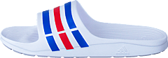 Duramo Slide White/True Blue/Red S09