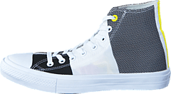 Chuck Taylor II Hi Eng. Woven White/Black/Fresh Yellow