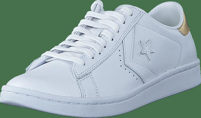 Converse Pro Leather LP Ox WhiteLight Gold Schuhe Kaufen